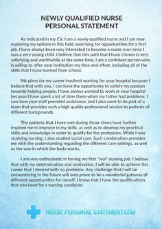 008 A great nursing personal statement example for nursing