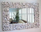 "Oyster Shell Mirror // 31"" x 23"". $400.00, via Etsy."