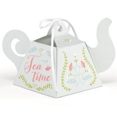 Adorable tea-pot wedding party favor box..bridal showers, spring weddings, garden parties, birthdays..Happily Ever After Themes..Fairytale..Tea Party..Favor Boxes