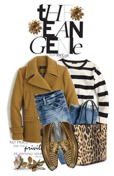 """""""One Jean/ Many Looks #1"""" by terrelyn-thomas-no-tags ❤ liked on Polyvore featuring J.Crew, Gucci and Givenchy"""