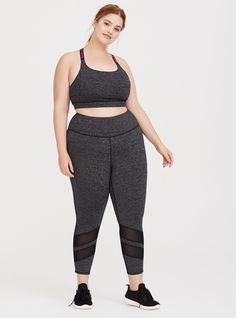 9bc1021d29a13 Space Dye Mesh Cropped Active Legging