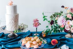 La Tavola Fine Linen Rental: Velvet Navy Table Runner | Photography: Heather K Cook Photography, Venue: The Westside Warehouse, Event Planning & Florals: A Beautiful Wild Design, Paper Goods: Plume & Fete