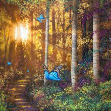 Wall Mural - Forest Trail with Butterflies