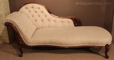 19th Century Victorian Walnut Framed Chaise Lounge - Antiques Atlas