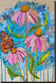 Stretched Canvas Print Wild Flowers2 29x20in