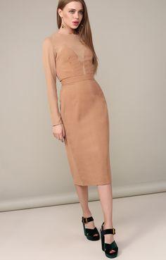 Комбинированное платье-футляр с корсетным верхом FORS / 2000000250506
