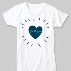 Soft bamboo t-shirt, wear you heart on your sleeve!