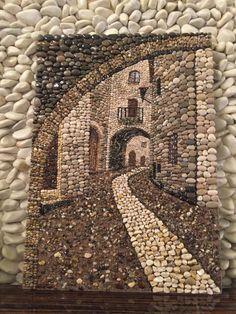 Pebble mosaic, Çakıl taşı  Pebble art Pebblemosaic Taş sokak #PebbleArt #RockArt #WallDecoration