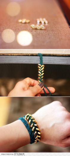 How To Make a Chevron Bracelet na Stylowi.pl
