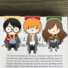 Harry Potter and/or Friends Bookmark Set by BeedooTO on Etsy Harry Potter Fiesta, Harry Potter Set, Harry Potter Movies, Hogwarts, Harry Potter Bookmark, Creative Bookmarks, Diy And Crafts, Paper Crafts, Harry Potter Drawings