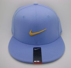 Nike true adult unisex swoosh flex baby blue hat/cap (one size) -- new
