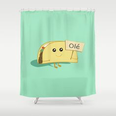 #Society6 #art #decor #ShowerCurtains Happy Taco Olé  #Society6...