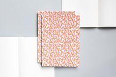 Layflat Notebook<br> Maze print / Burnt Orange & Salmon