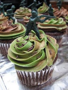 Soldier cupcakes.