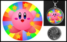 Happy Kirby Necklace. On Etsy for $10.
