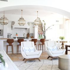 Love these chairs!!!For many of us, the kitchen is the heart of the home, which is why making it a space that is both functional ANDlovely to spend time in, is at...
