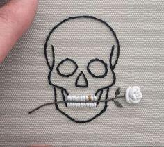 "stitchingsanity: ""embroidery@beastorgod ☁️ """