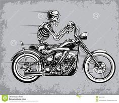 Squeletor biker
