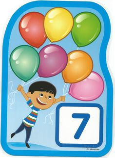 Numero 7 lámina, imagen, imprimir, preescolar, matematicas matemáticas número LAKESHORE