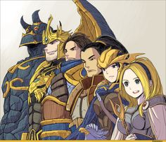 Lux, Quinn, Xin Zhao, Garen, Jarvan, and Galio • League Of Legends