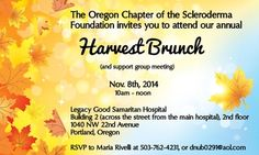 Mark your Calendars! Our Harvest Brunch and Support Group Meeting is scheduled on Saturday, November Should be a festive time for all and we hope you can join us! Good Samaritan Hospital, Oregon, Harvest, Festive, Foundation, Brunch, November, Join, Group