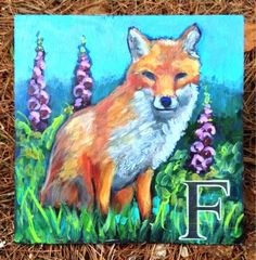 """This is for the Girls Just wanna Paint challenge- the theme is """"expression"""" It was fun to paint big ( ish) after all the little 's. See all the paintings by clicking above. Pine Needles, September 2014, Sally, Dean, Alphabet, Moose Art, Gloves, Fox, Friends"""