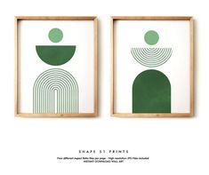 Green Canvas Art, Green Wall Art, Midcentury Artwork, Line Artwork, Mid Century Art, Small Art, Bedroom Art, Diy Wall Art, Minimalist Art