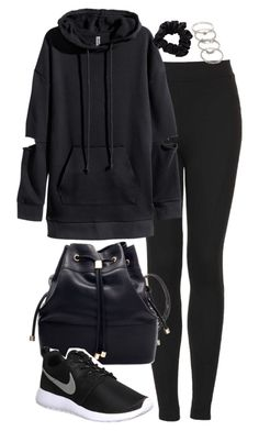 """Untitled #4283"" by eleanorsclosettt ❤ liked on Polyvore featuring Topshop, H&M, NIKE and Forever 21"