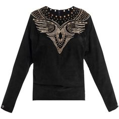 Isabel Marant Ostia suede studded top ($2,220) ❤ liked on Polyvore