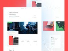 Softwarehouse homepage designed by Radek Prekurat. Connect with them on Dribbble; Homepage Design, App Design, App Landing Page, Showcase Design, San Luis Obispo, High Quality Images, Design Inspiration, Magazine, Art