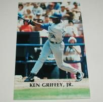 RARE! Ken Griffey Jr. 1992 Limited Edition Barry Colla Collection Seattle Mariners Post Card!