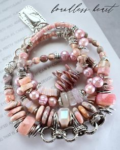 STUNNING Pink opal necklace or bracelet