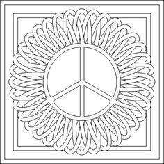 coloring pages of peace signs | printable coloring pages ... - Peace Sign Mandala Coloring Pages