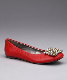 Take a look at this Red Tiffany Ballet Flat by Calvin Klein on #zulily today!