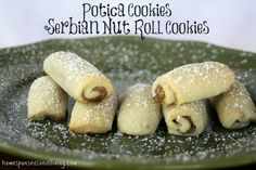 Potica Cookies, from Homespun Seasonal Living, are a spin on the traditional Serbian Nut Bread in a hand-held cookie form.
