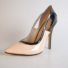 79.00$  Watch here - http://alix6c.worldwells.pw/go.php?t=32707950653 - 2015 Summer Style Elegant Patent Leather Color Matching Women's Pump Heels zapatos mujer Cover High Thin Heels Pumps