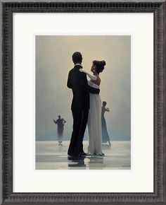 "0-004911>18x22"" Jack Vettriano Dance Me to the End of Love Framed Print"