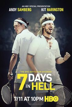 7 Days in Hell Poster with Kit Harington and Andy Samberg #kitharington #poster