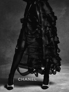 Anna Ewers, Lindsey Wixson by Karl Lagerfeld for Chanel Fall Winter Chanel 2015, Anna Ewers, Lindsey Wixson, Second Best, Fall Winter 2015, Autumn, Fabric Manipulation, World Of Fashion, Karl Lagerfeld