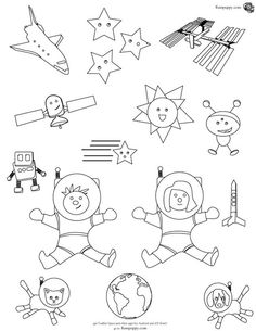 free coloring page and ipadandroid app for teaching kids and toddlers about space
