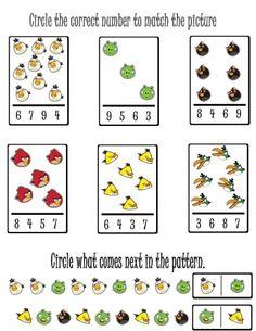 Amanda you needed this last year. :) Angry Birds Activities in the Classroom « green bean kindergarten Preschool Number Worksheets, Animal Worksheets, Numbers Preschool, Free Preschool, Preschool Printables, Worksheets For Kids, Kindergarten Worksheets, In Kindergarten, Math Activities
