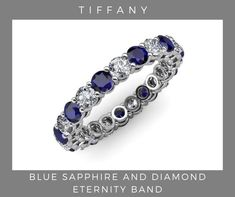 Sapphire Eternity Ring, Sapphire Band, Blue Topaz Diamond, Blue Sapphire, Blue Gem, Teal Blue, Eternity Ring For Women, Eternity Bands