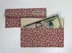 Dinero soporte - poco capullos de rosa en azul bebé - gran regalo - sobres de tela, viaje cartera, sobres de dinero, en efectivo sobres, dotación presupuestaria