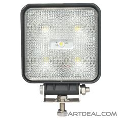 Heavy Duty Work Lights - Heavy Duty Lighting - High Power LED White Square Slim-line Flood Lamp- HD42505-3WFL