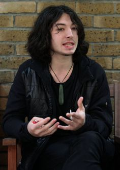 Ezra Miller - April 19: press association on interview in central London