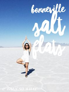 A day trip from Salt Lake City to the Bonneville Salt Flats in Utah. Definitely worth it and also a perfect stopover if you're on a road trip from SLC to Las Vegas! See more on & Then So What.