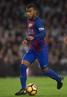 Rafinha of Barcelona runs with the ball during the La Liga match between FC Barcelona and Malaga CF at Camp Nou stadium on November 19, 2016 in Barcelona, Catalonia.