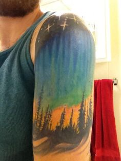 Northern lights tattoo.