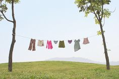 Pretty wash on the clothesline ;^)