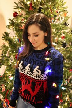Stranger Things Ugly Holiday Sweater from BoxLunch Ugly Holiday Sweater, Christmas Sweaters, Mind Flayer, Geek Chic Fashion, Pizza Planet, Don T Lie, Lilo And Stitch, Holiday Festival, Nightmare Before Christmas